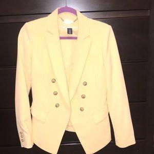 Light yellow blazer from White House black market